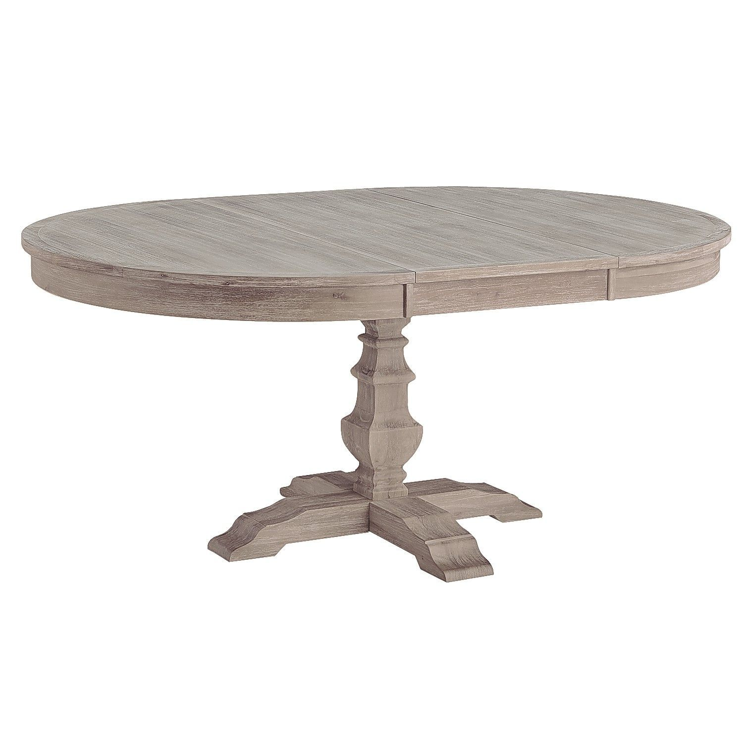 Double crank oval dining table at high fashion home industrial chic - Bradding Shadow Gray Extension Dining Table