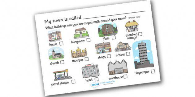 Buildings In My Town Worksheet School Ideas Pinterest