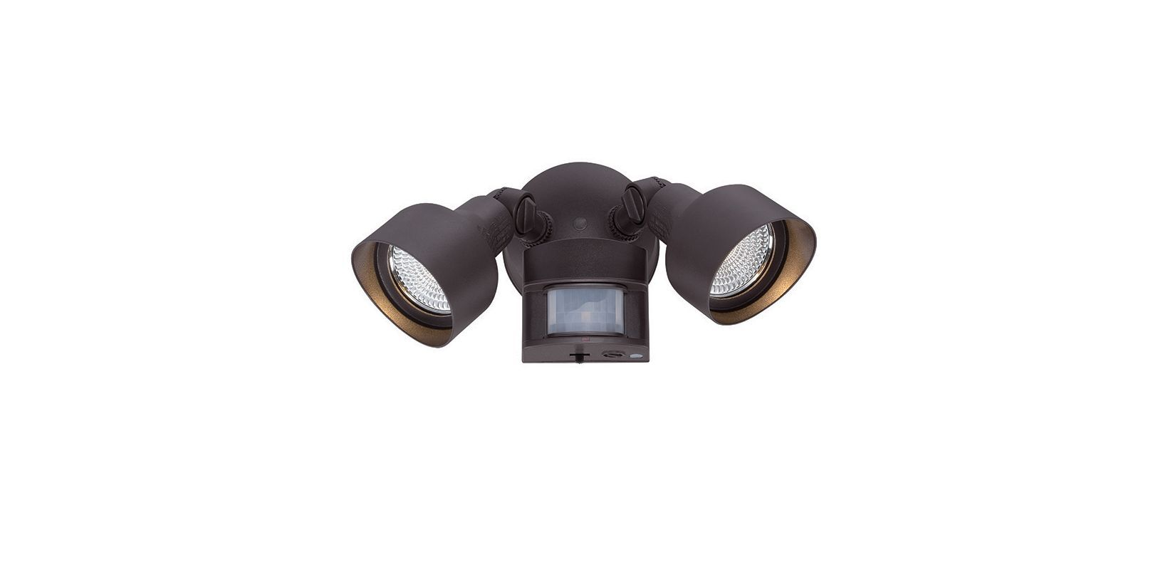 Acclaim lighting lflm dual head led flood light with motion sensor