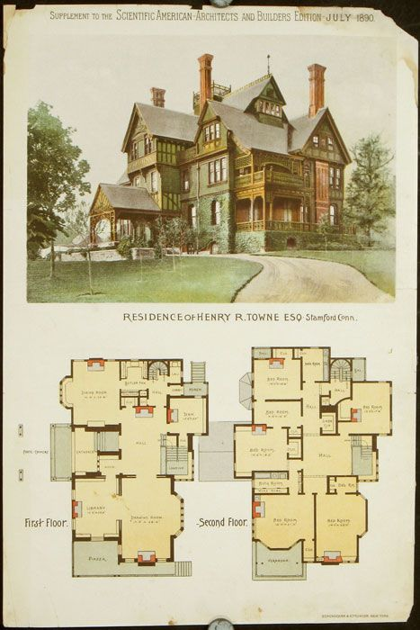 Residence of Henry R. Towne Esq. Stamford Conn by AMERICAN VICTORIAN ARCHITECTURE - CONNECTICUT on #victorian