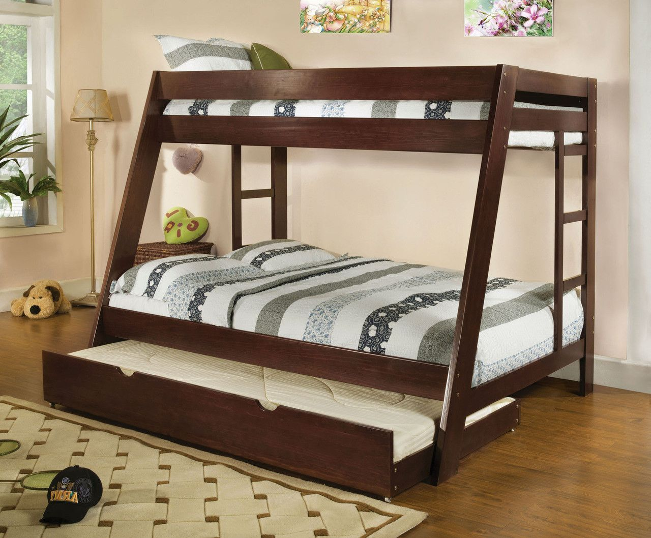 Twin Full Bunk Bed Arizona Collection Queen Bunk Beds Bunk Bed