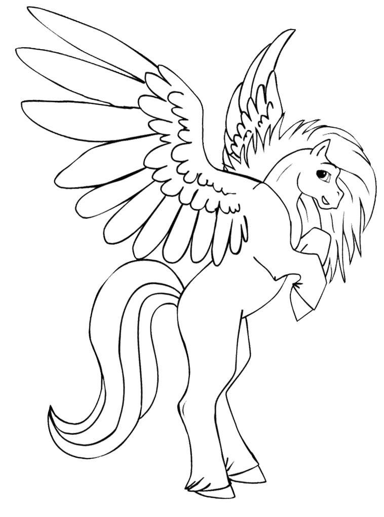 Caballo con alas dibujo para colorear e imprimir04 | Imprimibles in ...