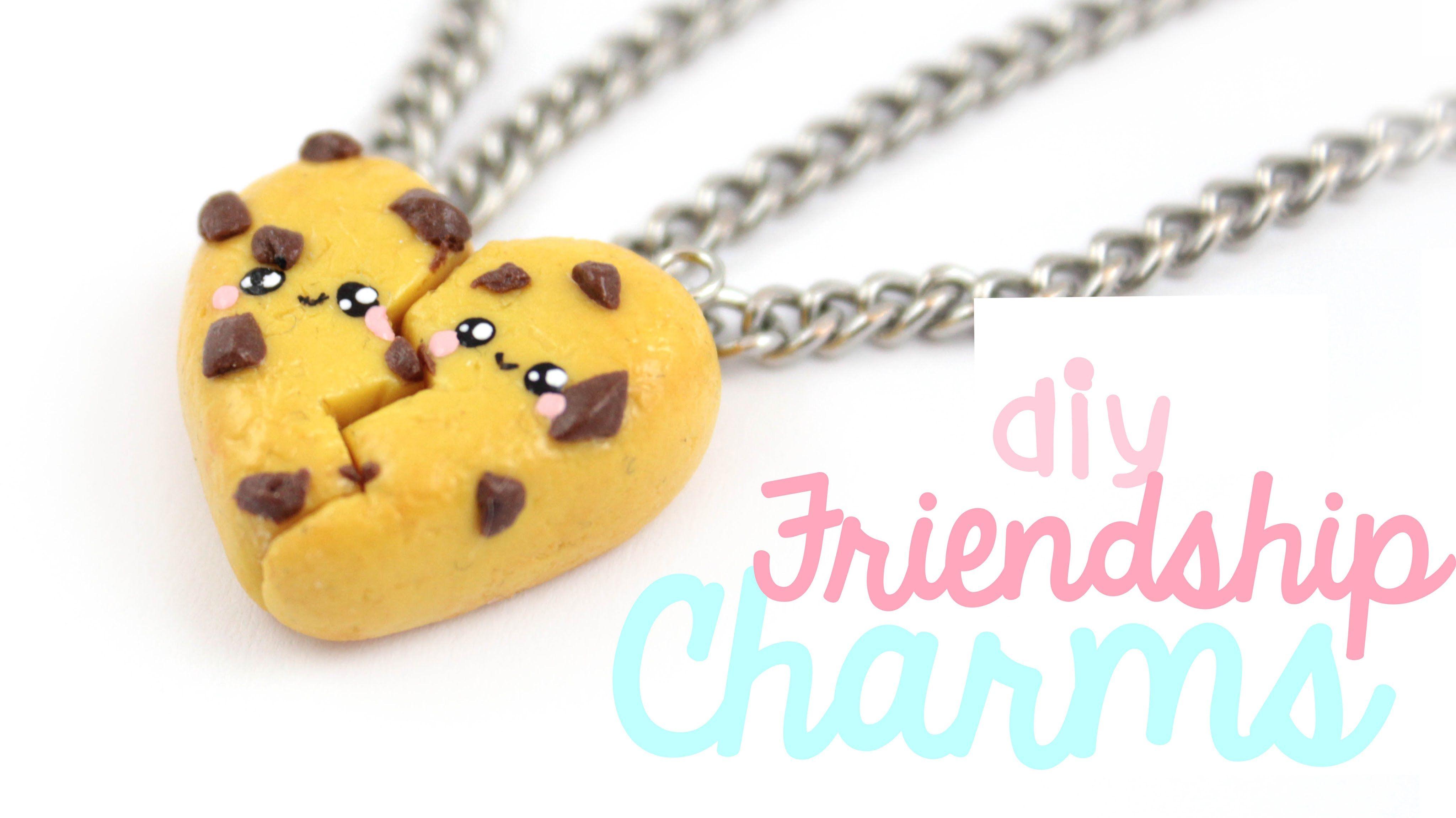 DIY Cute Cookie Friendship Charms Polymer Clay Tutorial | Kawaii ...