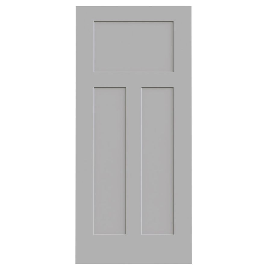 JELD WEN Driftwood Solid Core 3 Panel Craftsman Slab Interior Door (Common:  36 In X 80 In; Actual: 36 In X 80 In)