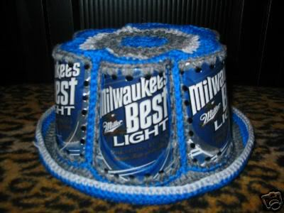 Crochet Beer Can Hats....oh so retro | Knit One, Crochet Two | Pinterest