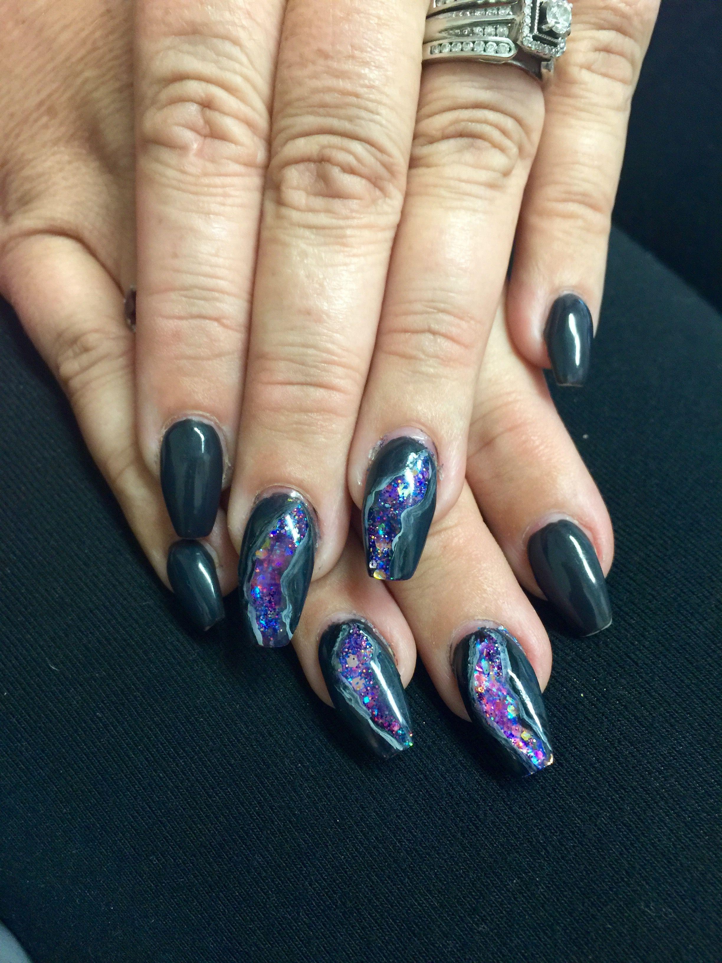 Geode nails   Nail Art Hacks   Pinterest   Nails inspiration, Nail ...