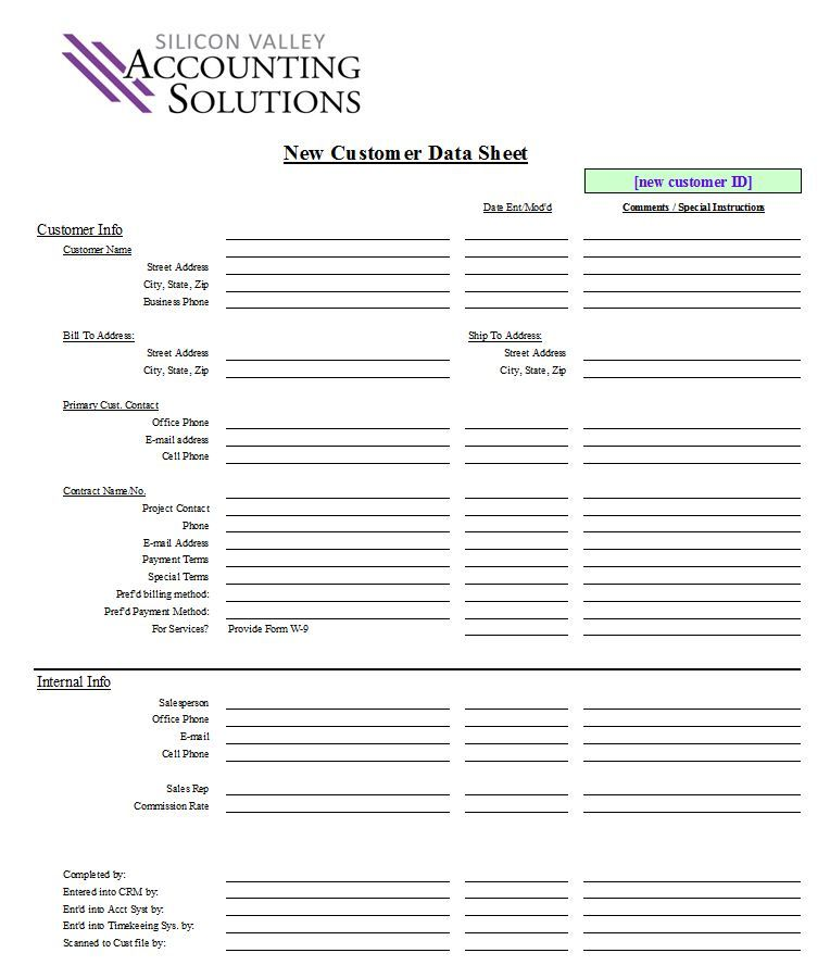 Customer Contact Form  Silicon Valley Accounting Solutions