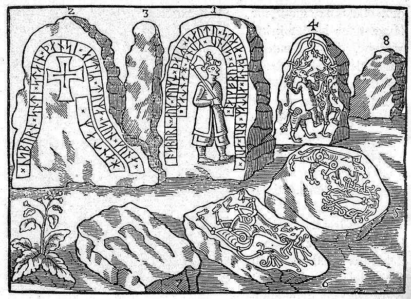Hunnestad Monument - (Swedish: Hunnestadsmonumentet), was once located at Hunnestad in Marsvinsholm north-west of Ystad, Sweden. It was the largest and most famous of the Viking Age monuments in Scania, and in Denmark, only comparable to the Jelling stones.  (Read  m ore below in the comments.)