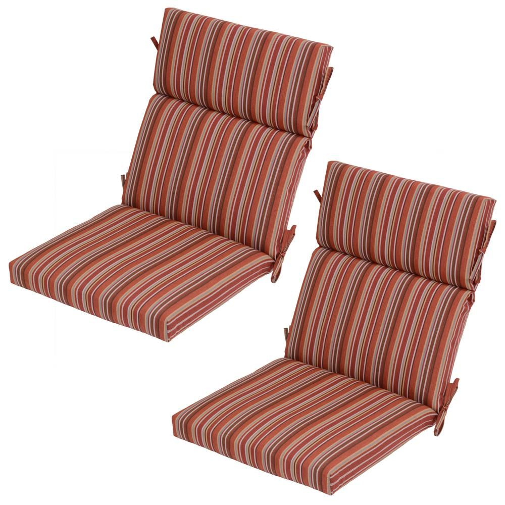 Null dragonfruit stripe outdoor dining chair cushion pack
