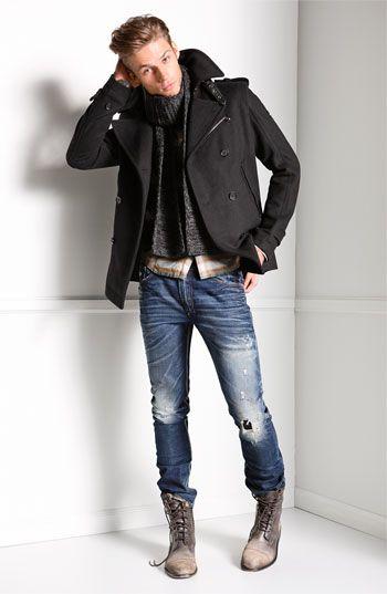DIESEL® 'Shioner' Slim Skinny Jeans (74Y Wash)