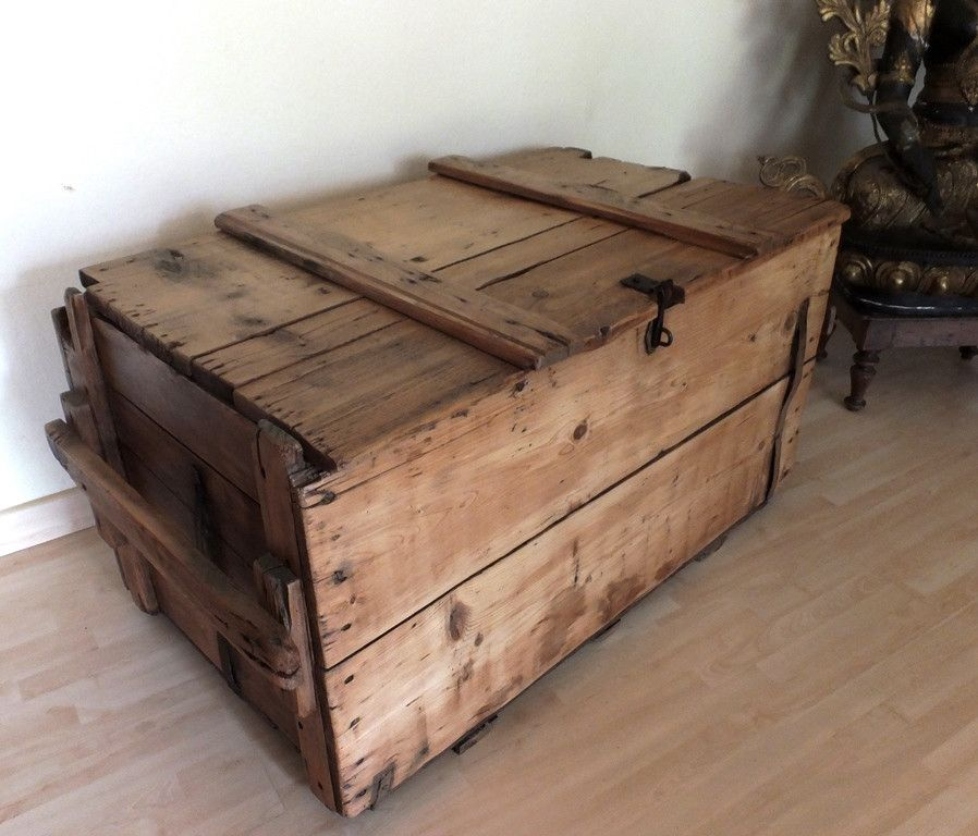 Kisten U0026 Boxen Alte Munitionskiste Holztruhe Tisch Vintage Ein  Designerstück Von TiSi Die