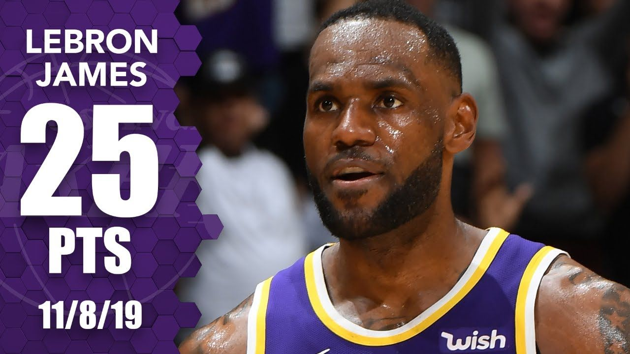 Lebron james paces the lakers with 25 points vs former