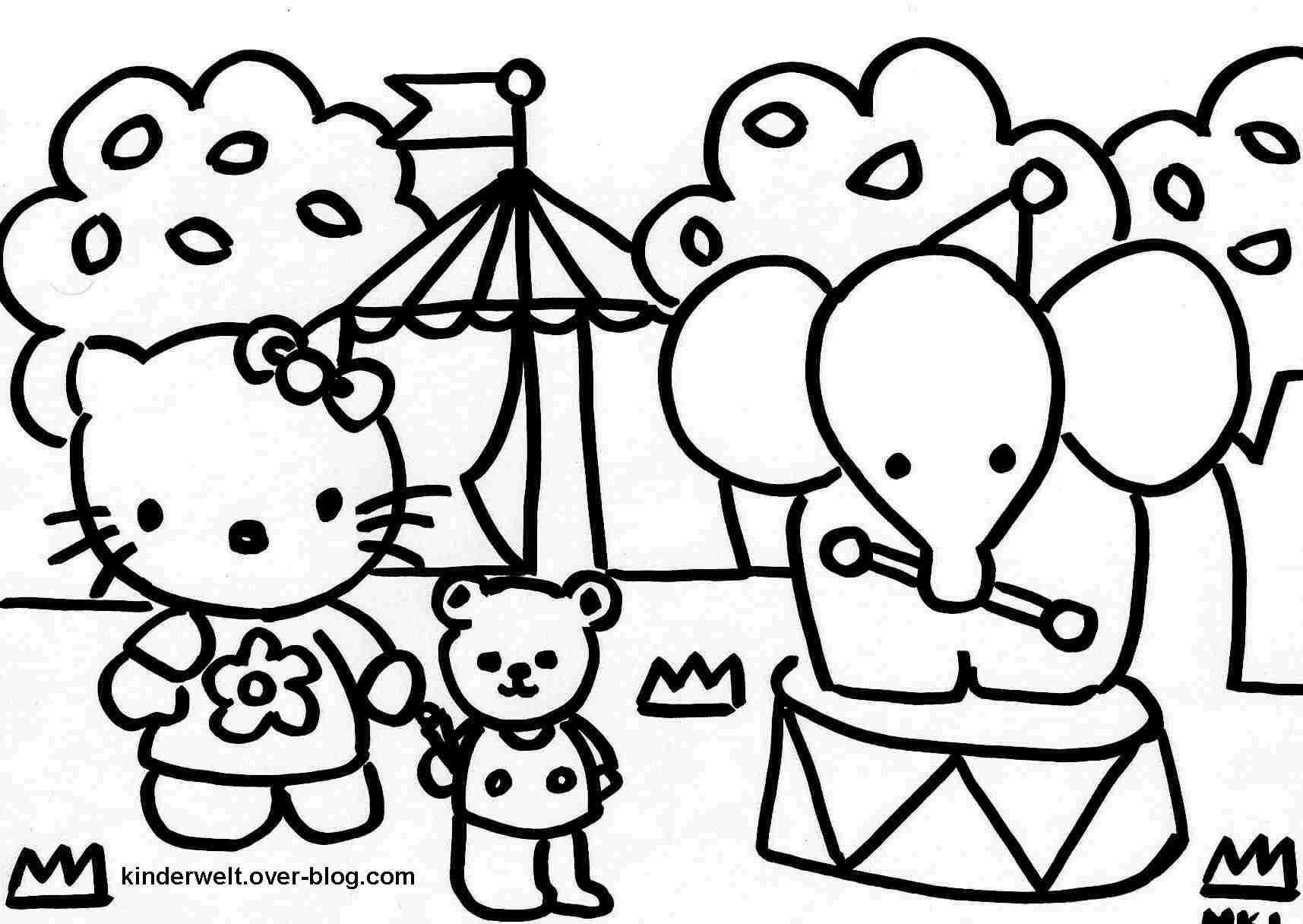 hello kitty ausmalbilder 06 | ausmalbild | Pinterest ...