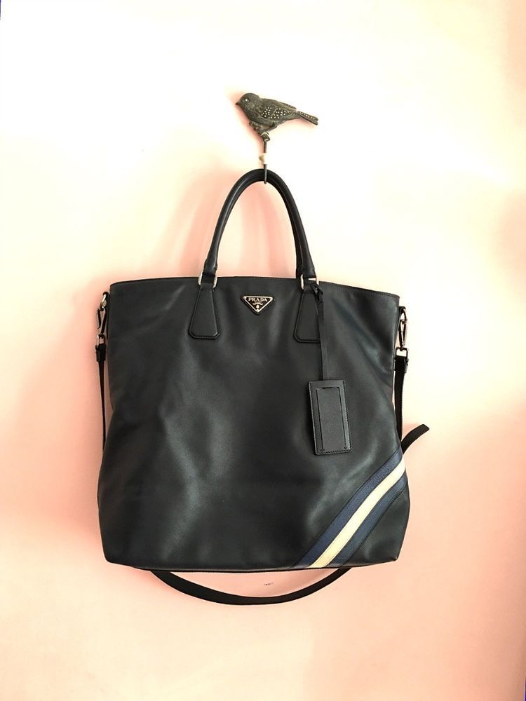 638ed28e4bfc 100% Authentic Prada Saffiano Shoulder 2Way Leather Bag Men's Unisex #PRADA  #MessengerShoulderBag