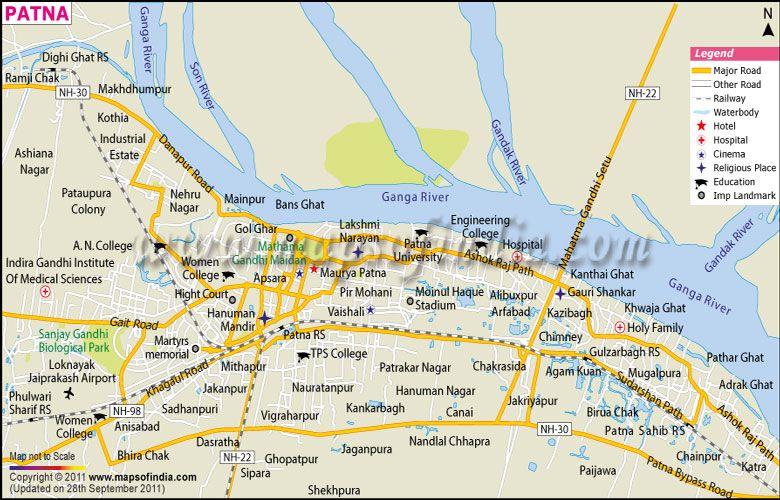 City map of patna patna map pinterest city map of patna gumiabroncs Image collections