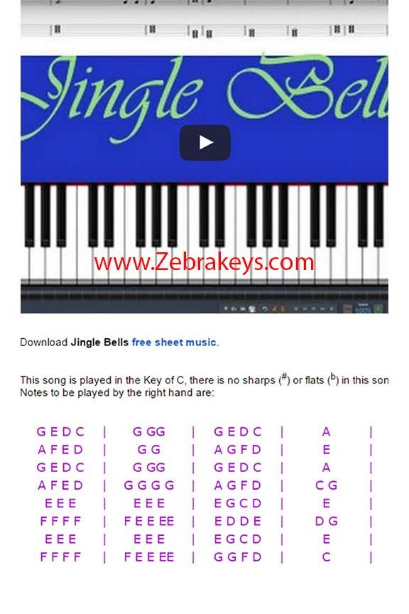 Learn This Easy Piano Christmas Song Jingle Bells Today Easy