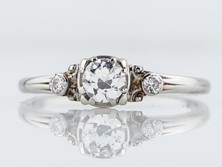 Antique Engagement Ring Jabel Art Deco .33 Old European Cut Diamond - Minneapolis, MN www.filigreejewelers.com