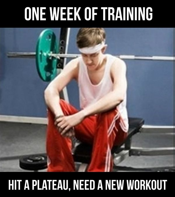 One Week Of Training Hit A Plateau Need A New Workout