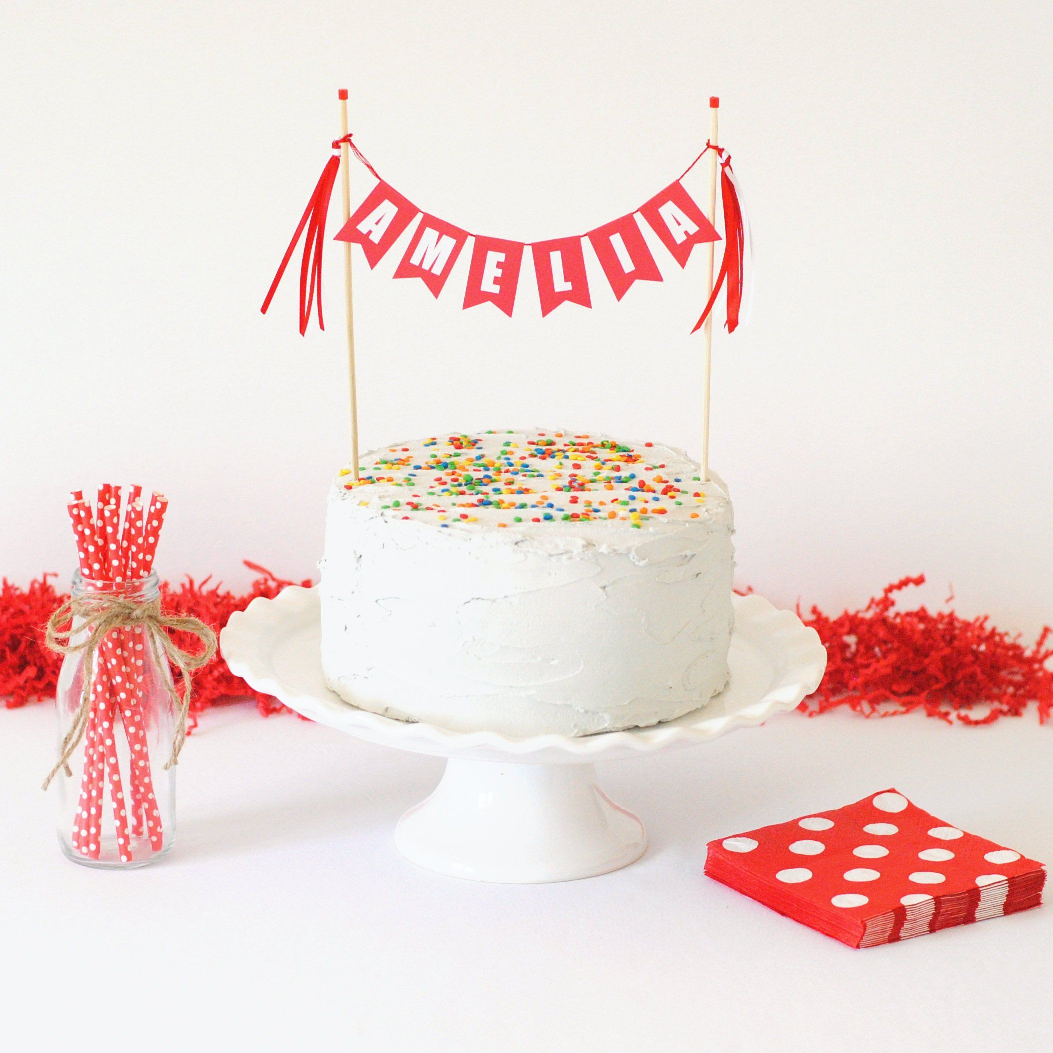 Excellent Personalized Name Cake Topper Birthday Cake Topper Banner Etsy Personalised Birthday Cards Paralily Jamesorg