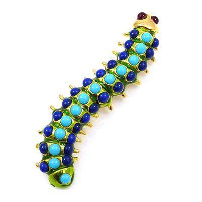 Kenneth Jay Lane Blue Stone Caterpillar Brooch Pin: KENNETH JAY LANE: Amazon.co.uk: Jewellery