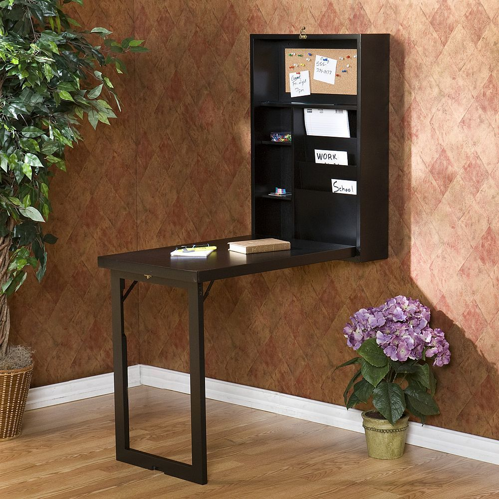 Wall Mounted Fold Out Convertible Desk Black Furniture In 2020 Fold Down Desk Wall Mounted Desk Home Office Furniture
