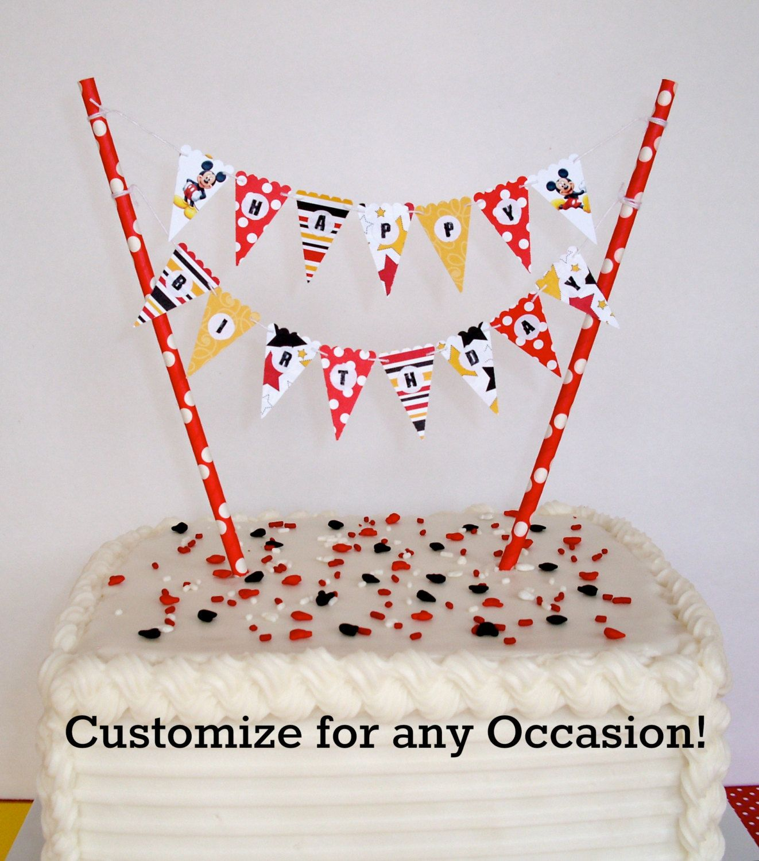 Cake Banner / Cake Bunting DIY Kit. Happy By