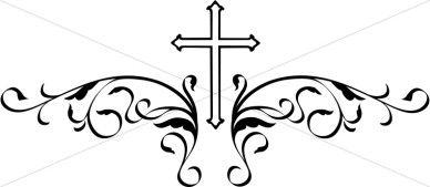 Decorative Black Cross | Crosses in Faith Graphics ...