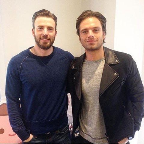 #TBT Evans & Stan!   #ChrisEvans #SebastianStan #Chris #Evans #Cevans #TeamCevansteamcevans