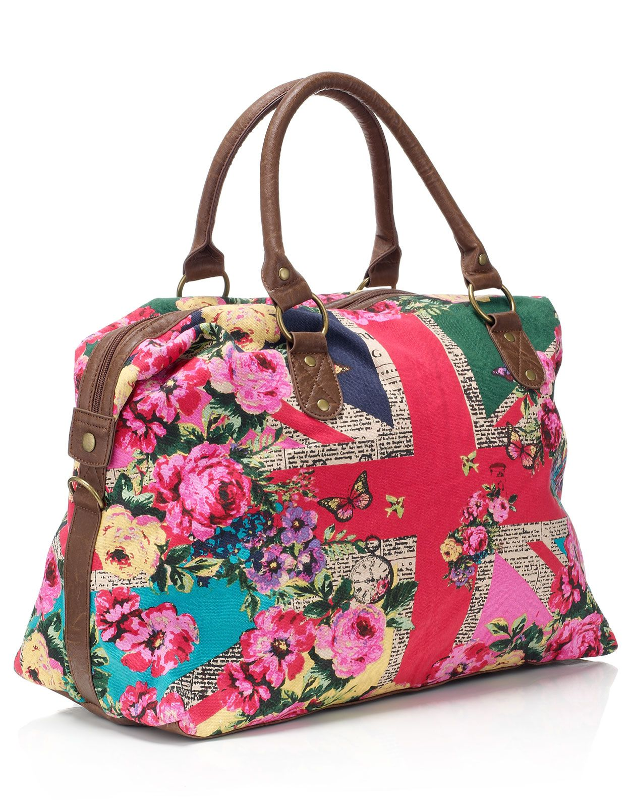 Cute: New News Print Union Jack Weekender. $78. Via Accessorize ...