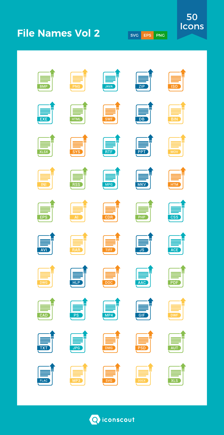 Download File Names Vol 2 Icon pack Available in SVG