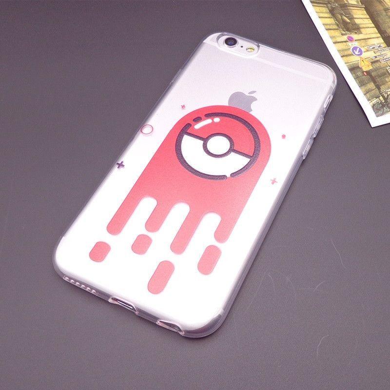 Cute Totoro Pokemons PikaPika Pattern Soft TPU Case Fundas Coque for iPhone 5S 5 SE 6S 6 Plus Caso