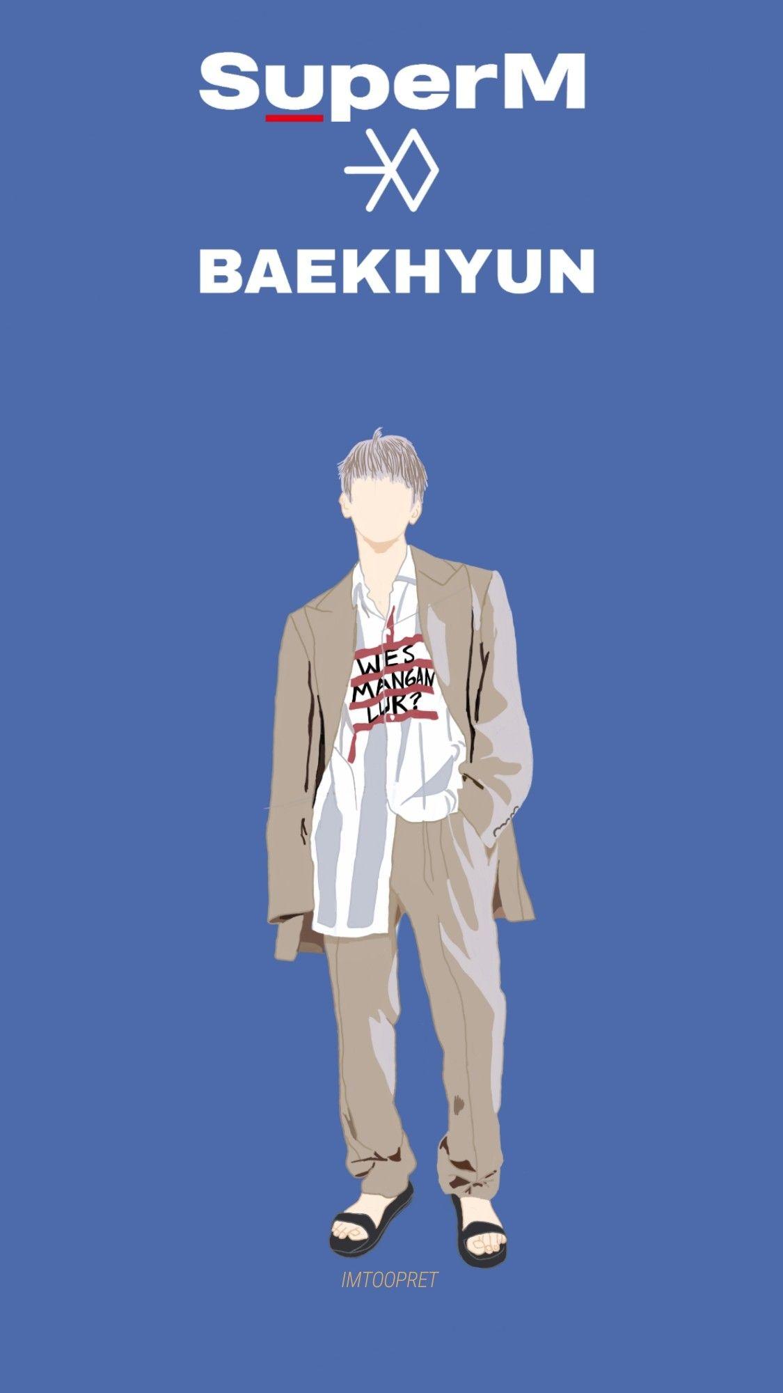 Byun Baekhyun Wallpaperlockscreen Fanart For Superm Debut