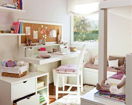 M corcho encima escritorio esquineros pinterest for Escritorio habitacion juvenil