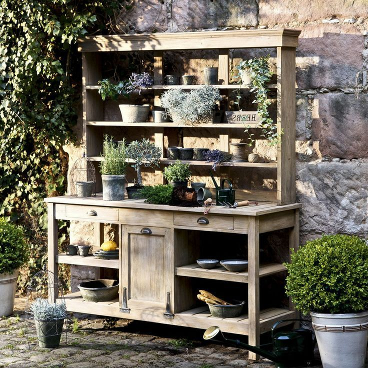 Gartenschrank Auzances Aus Teakholz Mirabeau Gartenschrank Auzances Aus Teakholz Mirabeau The Post G Outdoor Potting Bench Garden Cupboard Potting Tables