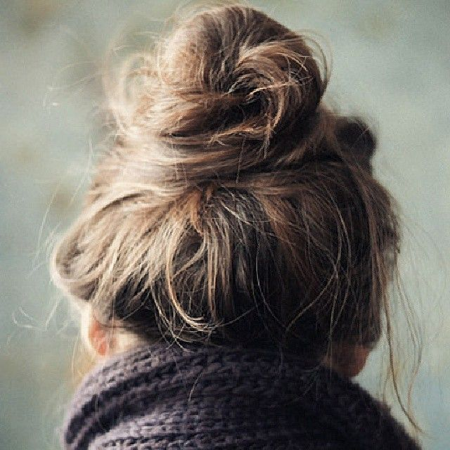 Messy bun | Long hair styles, Hair styles, Beauty