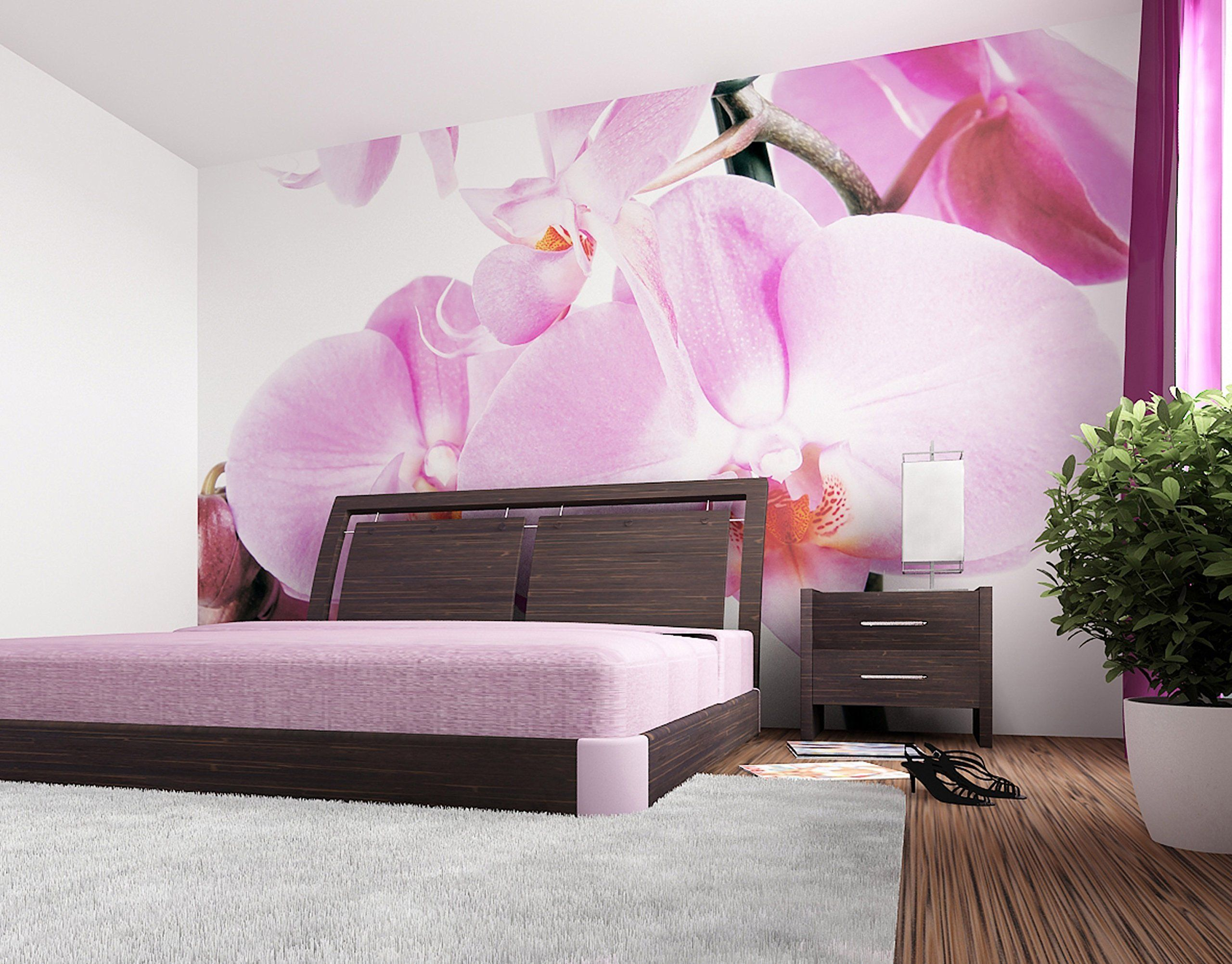 Wall Mural For Living Room Wallandmore Giant Nature Floral Wall Decal Mural For Living Room