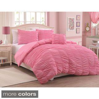 Mandy 4 Piece Microfiber Mini Comforter Set