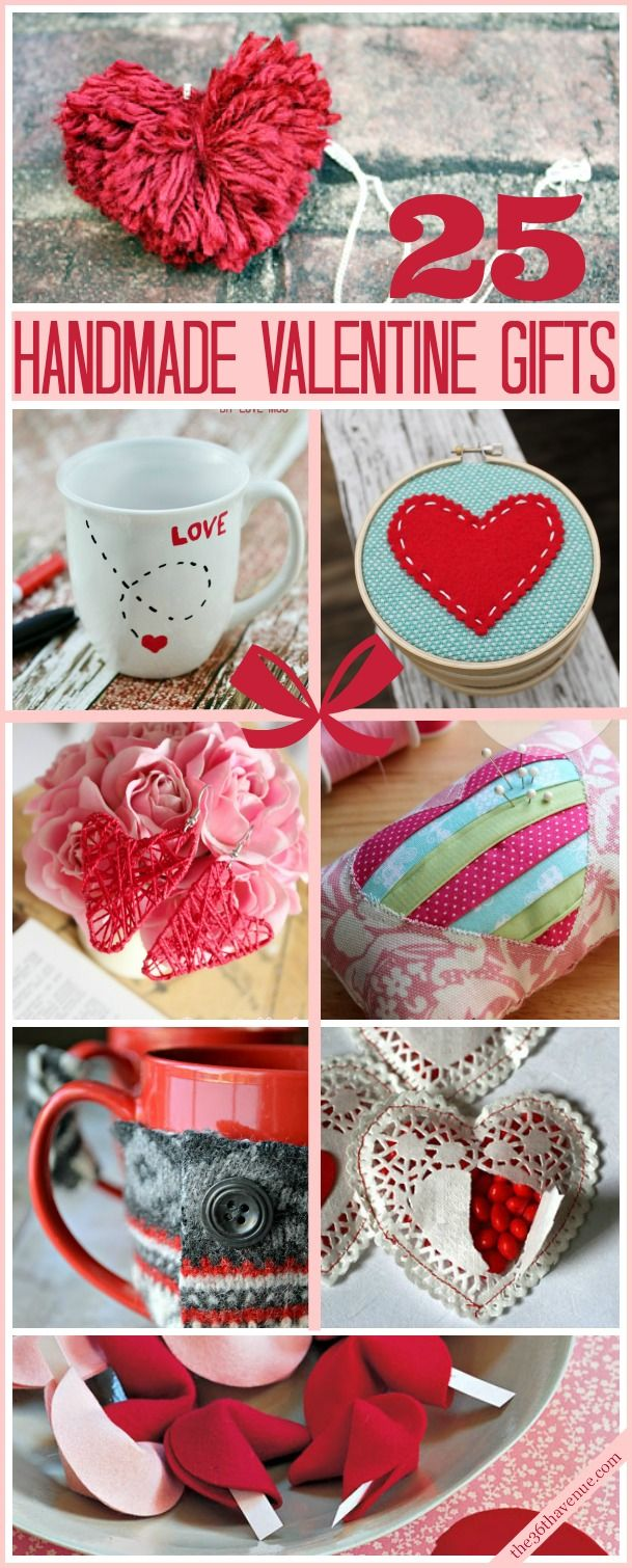25 Valentine Handmade Gifts Sewing Projects Pinterest