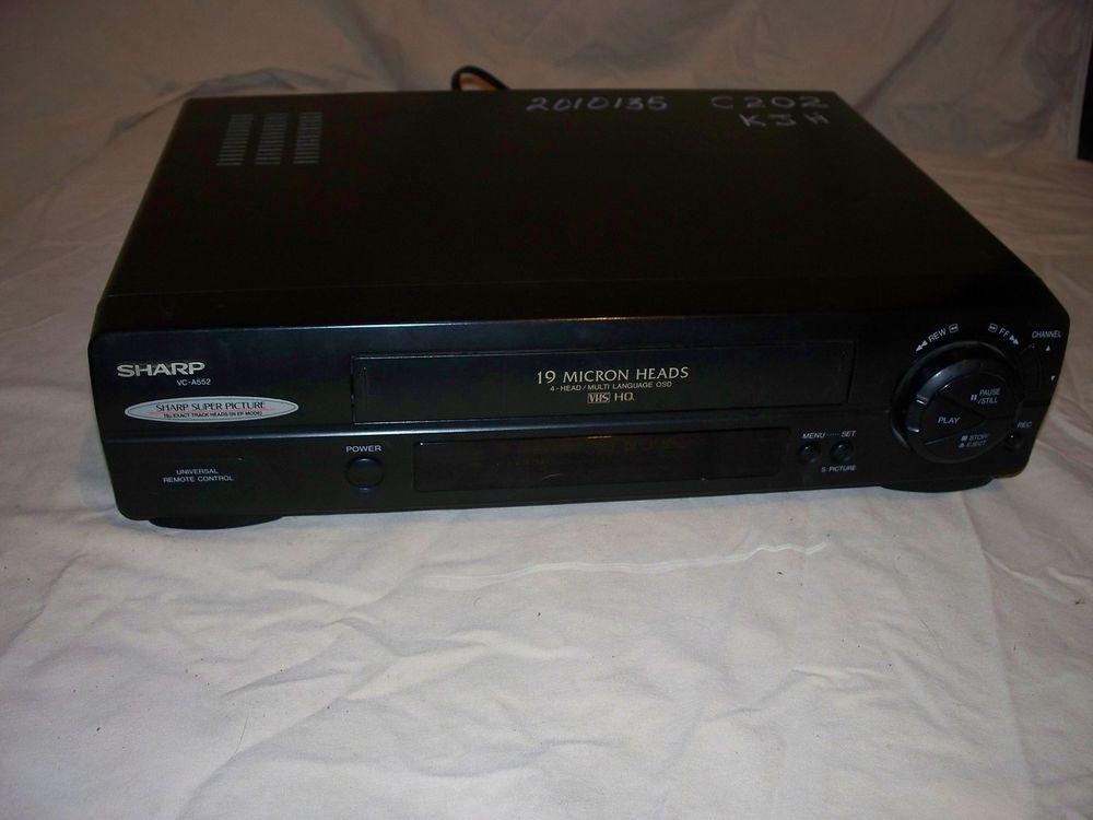 Sharp VC-A552U VHS VCR Player Recorder: Works Great! #Sharp