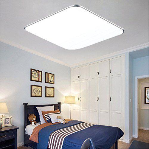 Moderne minimalistische LED-Deckenleuchten runden das Schlafzimmer ...