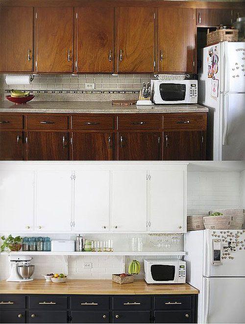 Relooker une cuisine rustique 7 astuces pour la moderniser cuisine a table pinterest - Relooking cuisine rustique ...