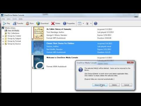 How to Return Overdrive Audiobooks - YouTube - Picture Books