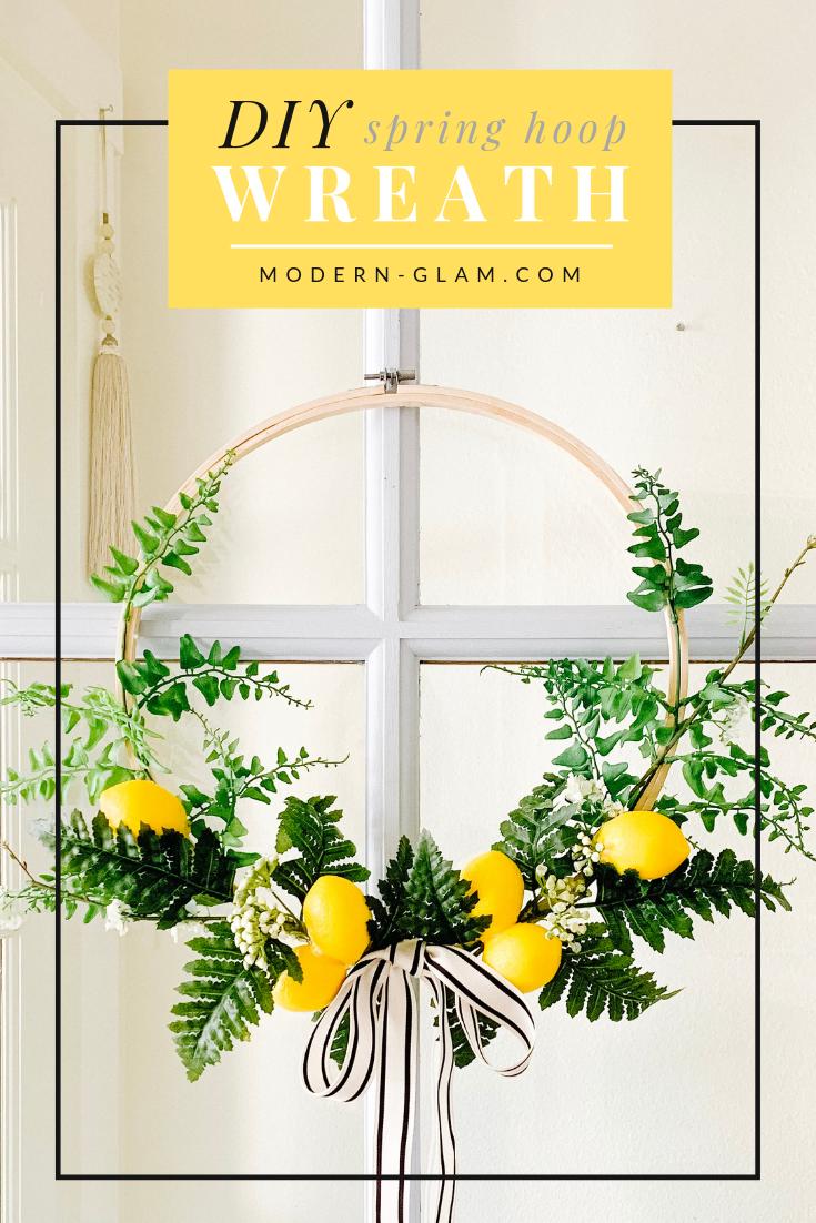 Photo of Spring Hoop Wreath with Lemons – Modern Glam – DIY