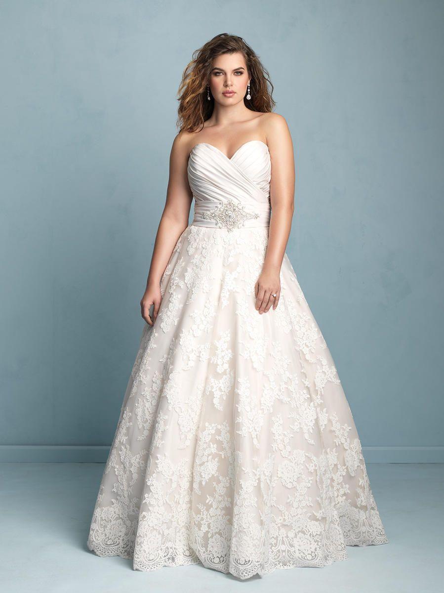 Alfred Angelo Plus Size Bridal W351 | Weddings | Pinterest ...