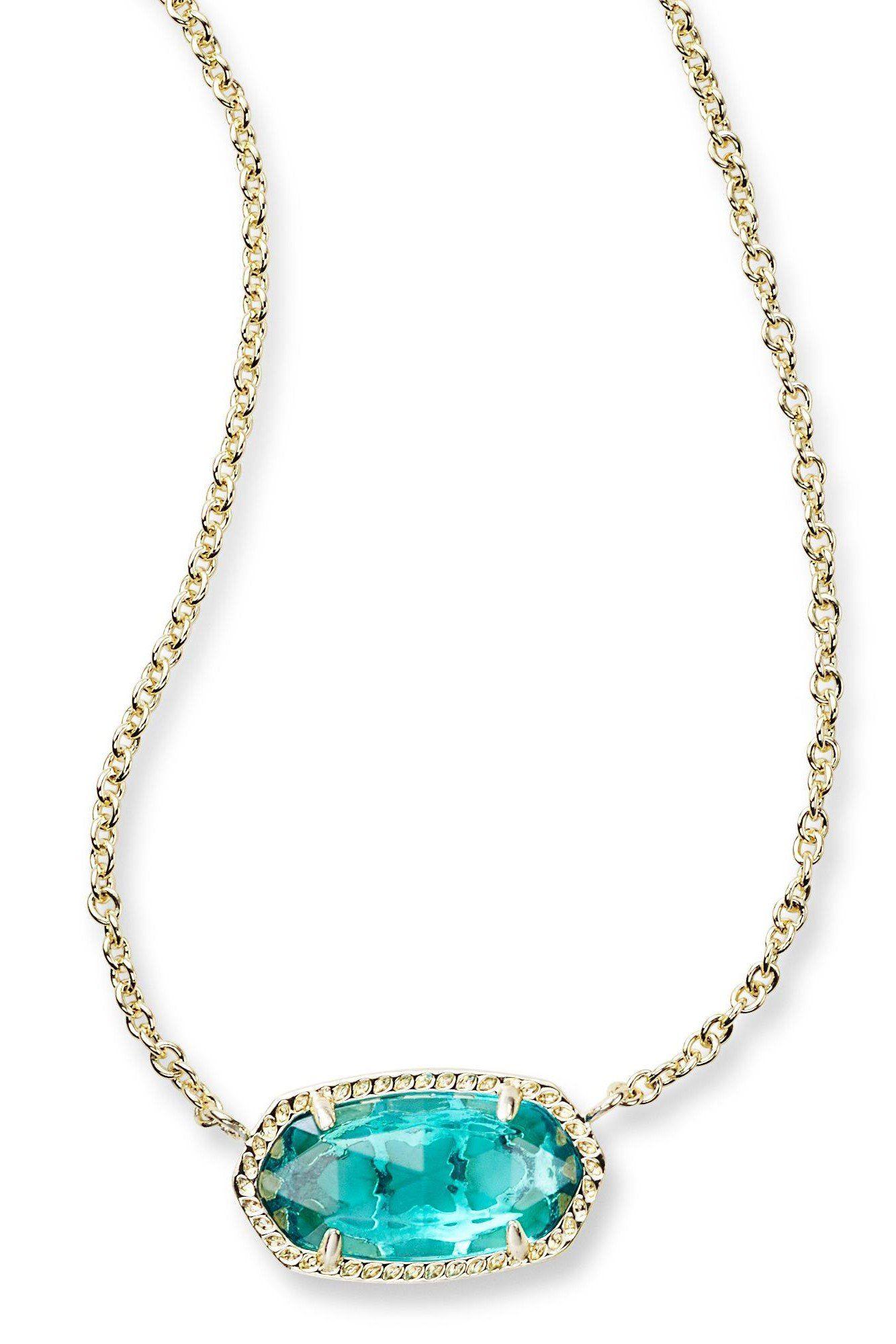 Kendra scot elisa pendant necklace in london blue london blue
