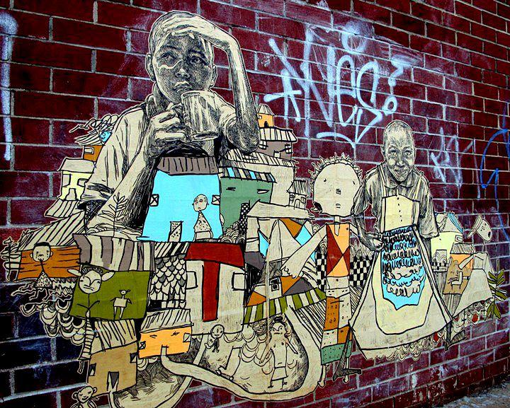 Bushwick S Wondrous Walls Swoon Concrete Jungle Priscila De Carvalho Ema Sonni More Street Art Street Art Graffiti Art