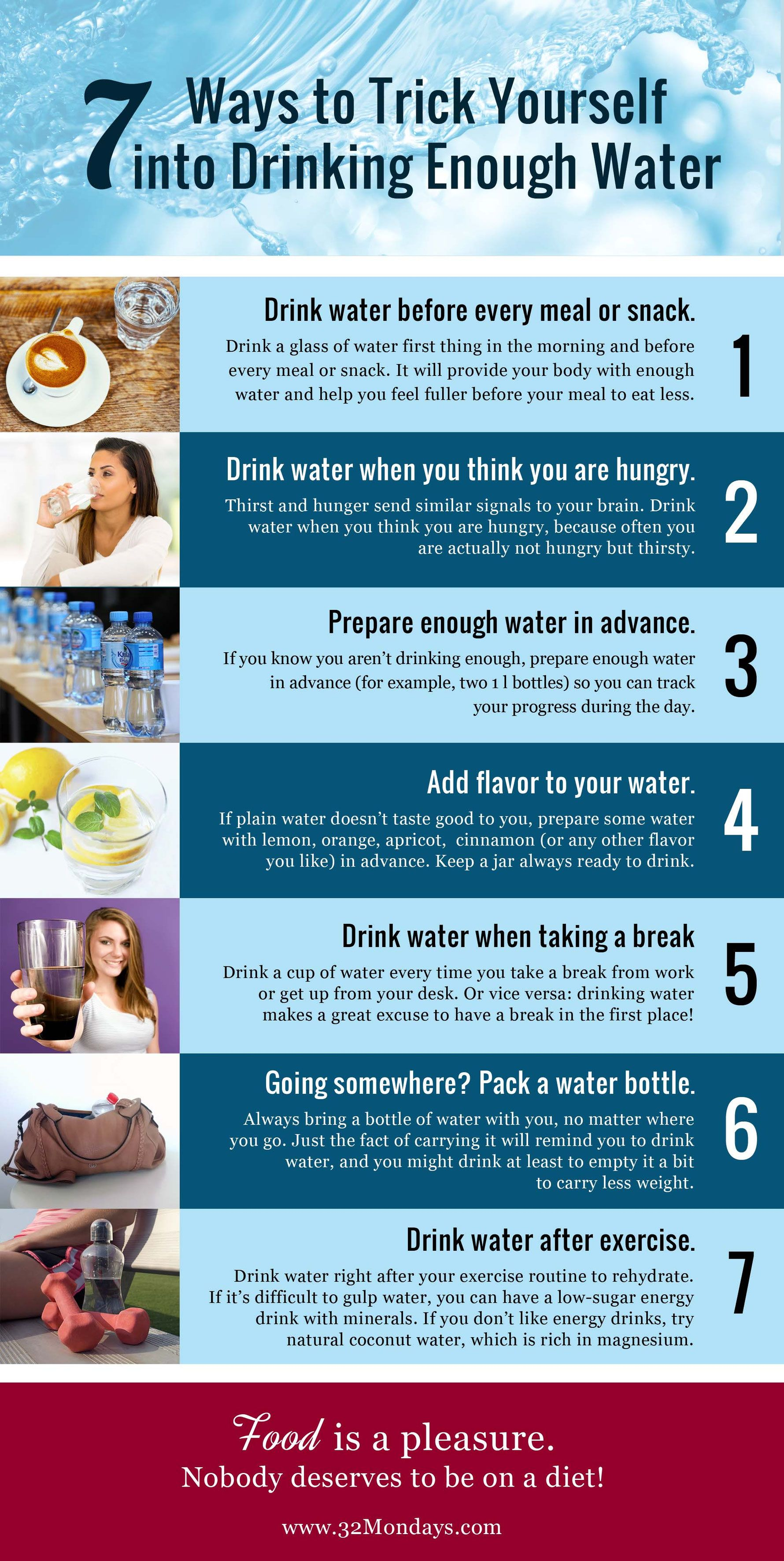 7 ways to trick yourself into drinking enough water think