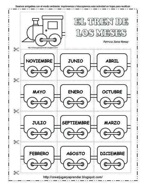 El Tren De Los Meses Del Año Actividades Calendario