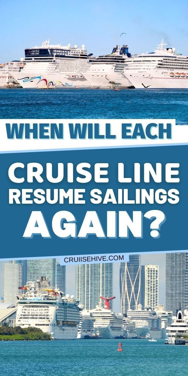 When Will Each Cruise Line Resume Sailings Again In 2020 Cruise Travel Cruise Best Cruise