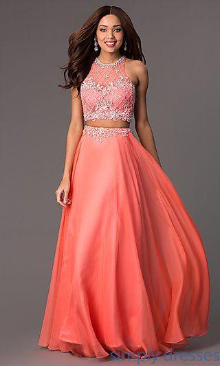 Coral 2 Piece Prom Robe Authentic 1f6e1 3ebea